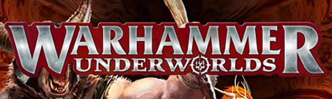 Warhammer Underworlds Logo with artistic background